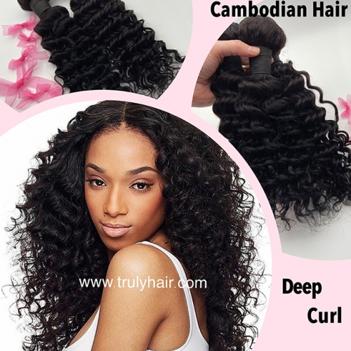 50% off Cambodian hair deep curly