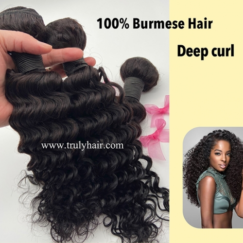 50% off Burmese hair deep curl 1 pc