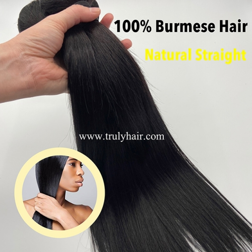 50% off Burmese hair natural straight