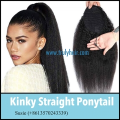 New arrival kinky straight ponytail