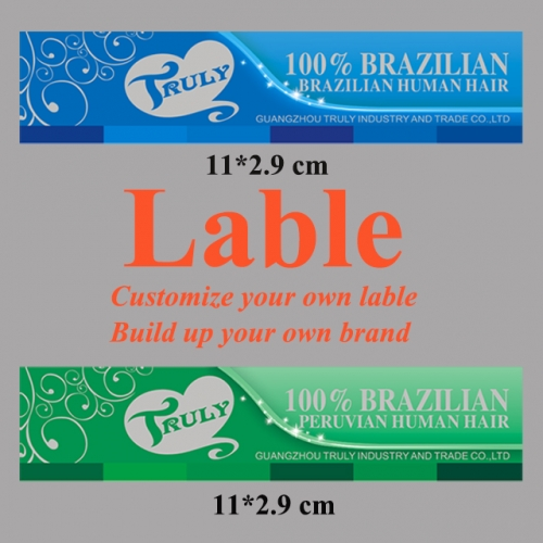 Customized label for hair