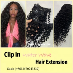 clip in hair extension water wave