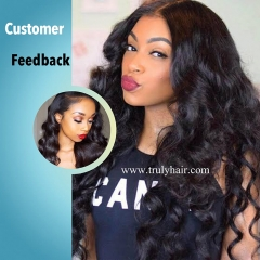 "3 pcs loose wave hair bundles plus 1 pc 4""X4"" free closure"