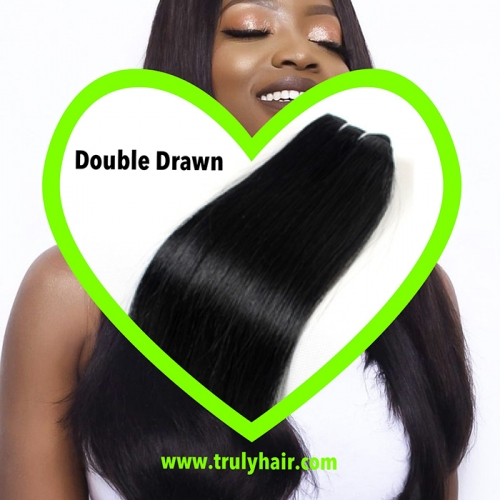 Double drawn hair natural straight 100grams/pc