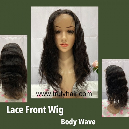 50% off lace front wig body wave natural color