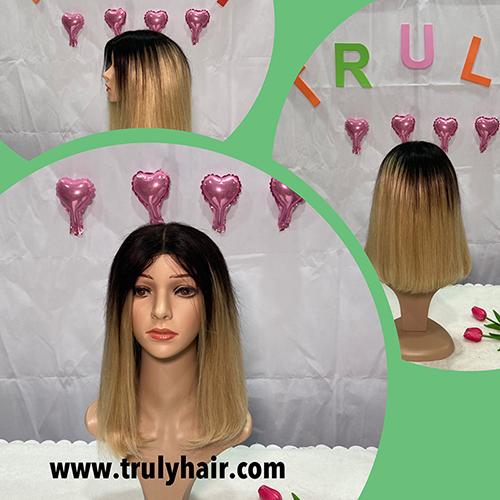 50% off color 1B/27 human hair bob wig 14inches