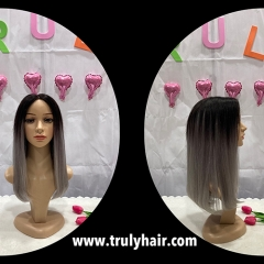 50% off color 1B/Grey human hair bob wig 14inches