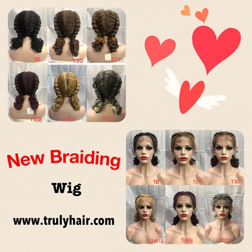 New braiding wig short synthetic wig
