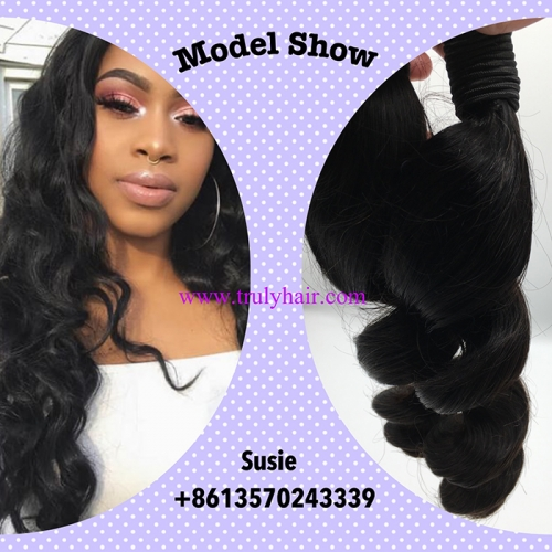 Special ! 12A hair 3 bundles Loose wave + free hair 10A 3 bundles