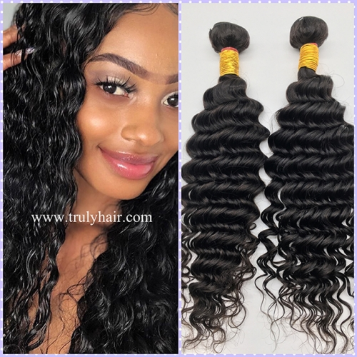 Special ! 12A hair 3 bundles Deep curl + free hair 10A 3 bundles