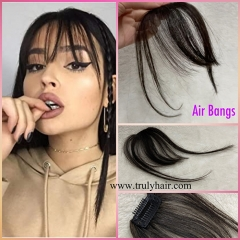 Air bangs fringe human hair fringe