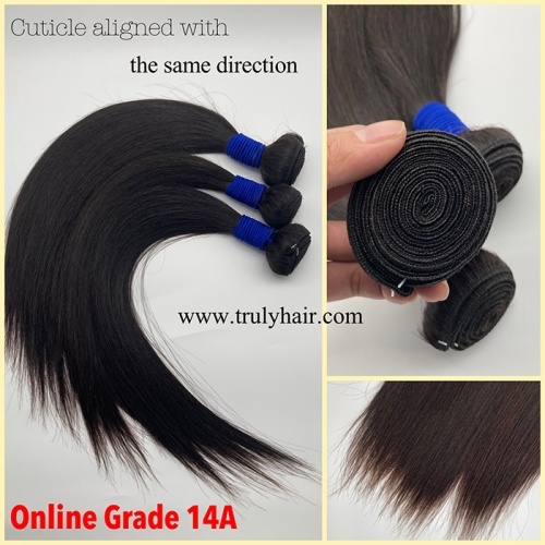 14A Truly hair high quality virgin hair natural straight