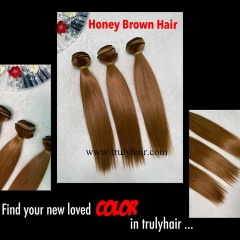 Color #27 human hair bundle