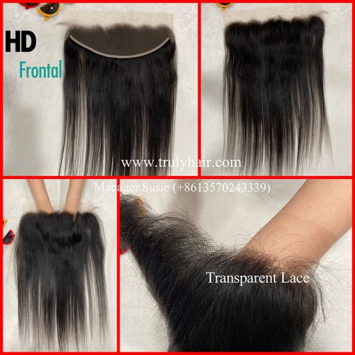 4X13 HD lace frontal transparent lace closure
