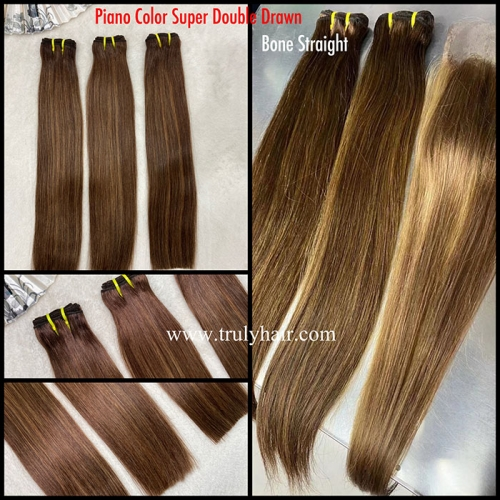 High quality piano color hair double drawn piano hair
