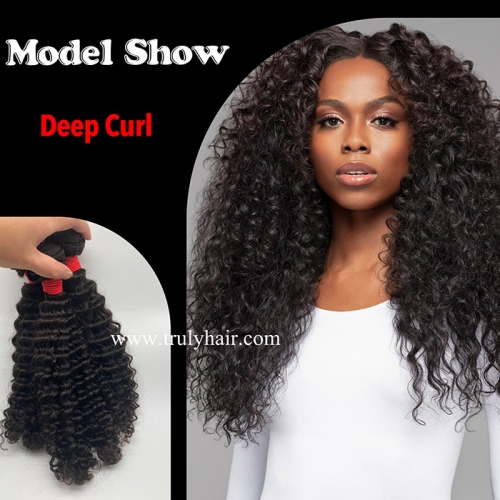 12A virgin hair deep curl human hair curly hair