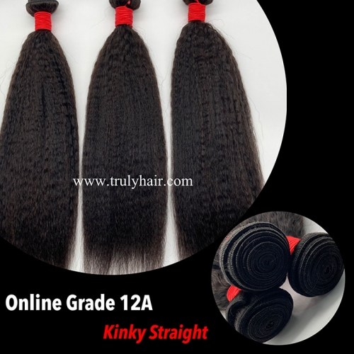 12A virgin hair kinky straight hair