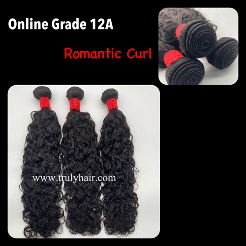 12A virgin hair romantic curl hair