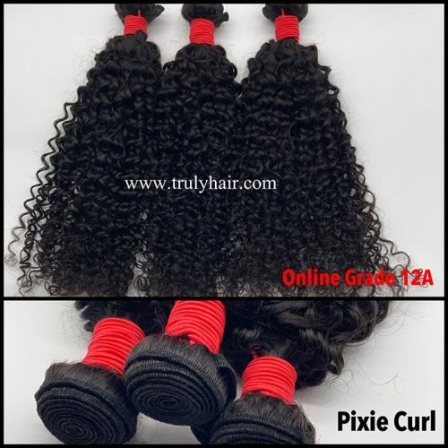 12A virgin hair pixie curl