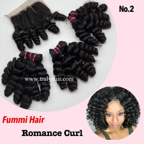 Free closure ! Funmi hair romance curl 3 pcs with 1 pc free closure
