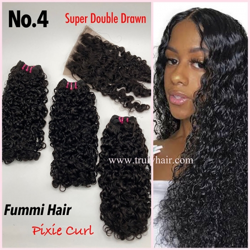 Free closure ! Funmi hair pixie curl 3 pcs with 1 pc free closure