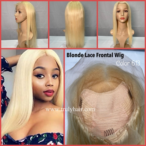 50% Lace front wig color #613 natural straight