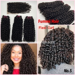 Free closure ! Funmi hair flexi curl 3 pcs with 1 pc free closure