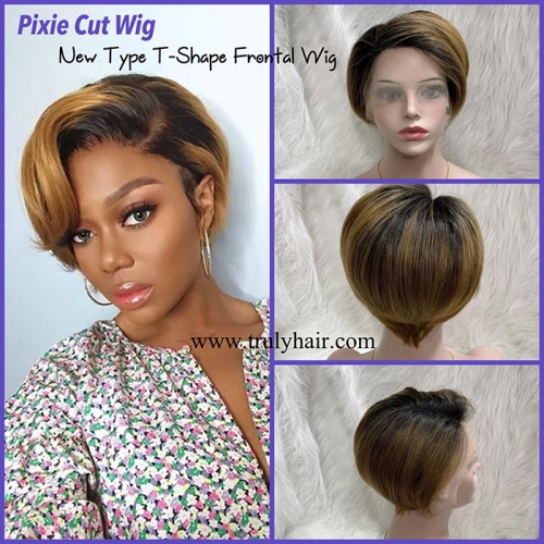 pixie cut wig color 1B/30