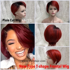pixie cut wig color 1B/99J