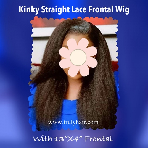 High quality Kinky straight lace front wig (4x13 frontal)