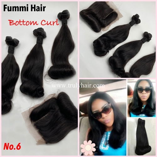 Free closure ! Funmi hair bottom curl 3 pcs with 1 pc free closure