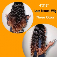 4X13 lace frontal wig three colors