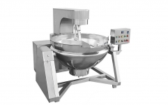 AUTOMATIC HORIZONTAL COOKING KETTLE WITH MIXER --STEAM HEATING
