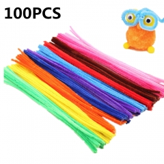 100 Pieces Chenille Stems Pipe Cleaners