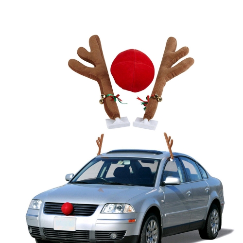 Christmas Reindeer Antler&Nose Vehicle Costume Decoration