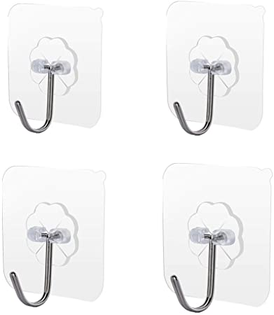 4 Pack Wall Hooks