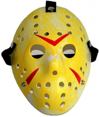 Jason Mask, Costume Mask Cosplay Halloween Mask , Hockey Mask for Cosplay, Party,Costume Masquerade Parties,Carnival, Festival (Yellow)