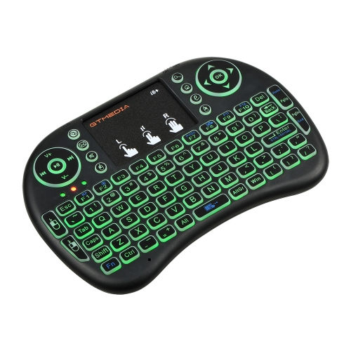 i8 Backlight Wireless Ergonomic Mini Keyboard with touchpad mouse for Smart TV, Android Mini PC, Xbox, HTPC, PC