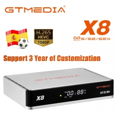 GTmedia X8 Satellite TV Receiver DVB-S/S2/S2X Bulti in Wifi WEB TV with 3 years Europe Cline spain Cccam Satellite Decoder
