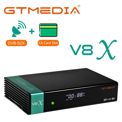 GTmedia V8X Update from GTMEDIA V8 NOVA DVB-S/S2/S2X SCART Built in Wifi CA Slot Satellite Receiver