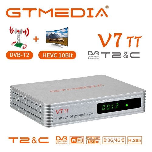 GTMEDIA V7 TT Terrestrial TV Decoder Cable TV Receiver DVB-T2 DVB-C Digital USB Wifi TV Box Sat Firmware