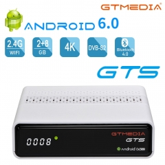 GTMEDIA GTS Android 6.0 TV Box Amlogic S905D Quad Core 2GB 8GB, WiFi, 4K, H.265 Media Player DVB-S2 Satellite Firmware