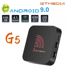 GTMEDIA G5 Android TV Box 9.0 4GB 64GB Smart TV Box Streaming Media Player S905X2 USB 3.0 4K HDR Wifi 2.4GHz 5.8GHz BT4.1 Set Top Box