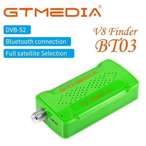 GTMEDIA Satellite Signal Meter V8 Finder Battery to Adjust Satellite Dish, Phone BT Control HD Signal Supports Android and iOS OS