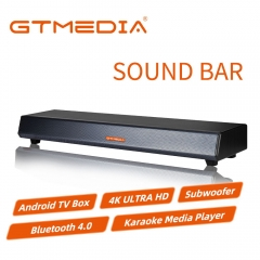 GTMedia Android Audio Signal TV Sound Bar, 4K, Live Streaming, IPTV Karaoke Media Player TVs, Wireless Subwoofer Hi-Fi Speaker BT4.0 Receiver Box