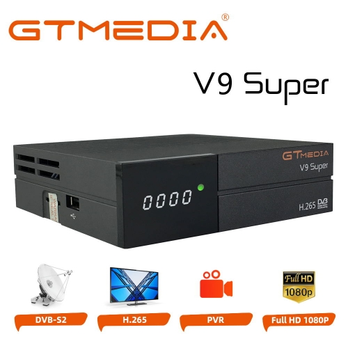 GT Media V9 Super DVB S2 Satellite Receiver Decoder Freesat Digital TV Sat Receiver H.265 1080P Full HD Set Top Box