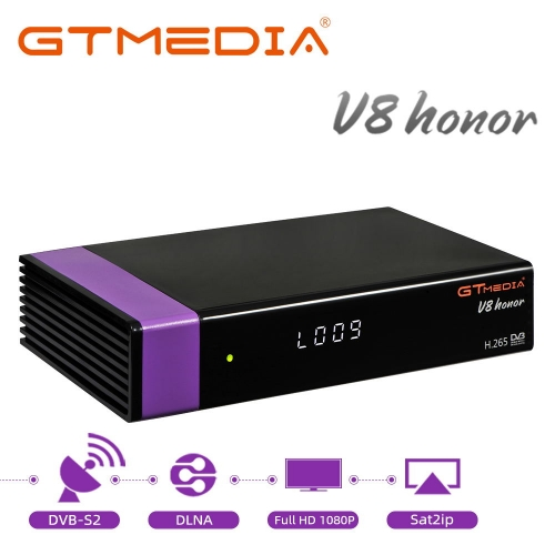 GT MEDIA V8 Honor DVB-S/S2 Satellite TV Receiver with WiFi Ethernet SCART HEVC H.265 1080P Full HD Satellite Decoder