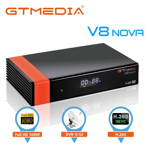Satellite Decoder GTMEDIA V8 Nova DVB-S/S2 Astra 19.2E Satellite TV Receiver with WiFi Ethernet SCART HEVC H.265 1080P Full HD