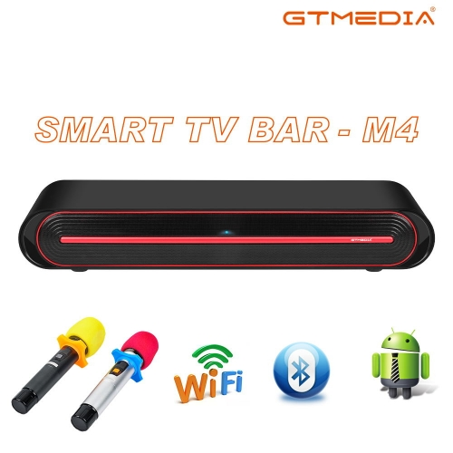 GTMEDIA M4 Sound Bar with Subwoofer Sound Bars for TV, 60W, Hi-Fi Speaker,4K & HD & Smart TV, Live Streaming, Outdoor Surround Karaoke Box