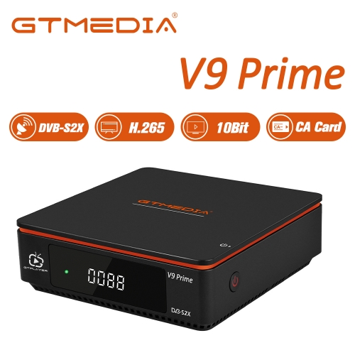 GTMEDIA V9 Prime Satellite Receiver 1080P HD Satellite Decoder for DVB-S/S2/S2X TV Box, Auto Biss Key, H265 10bit Multimedia Player